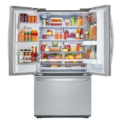 22.1 cu. ft. French Door Smart Refrigerator with InstaView Door-in-Door in Stainless Steel, Counter Depth