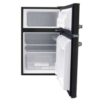 Retro 3.2 Cu. Ft. 2 door Mini Fridge in Black