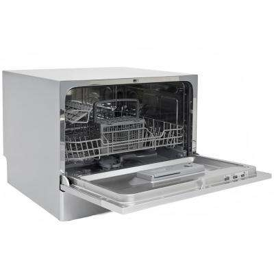 Portable Dishwasher in Silver with 6 Place Setting Capacity