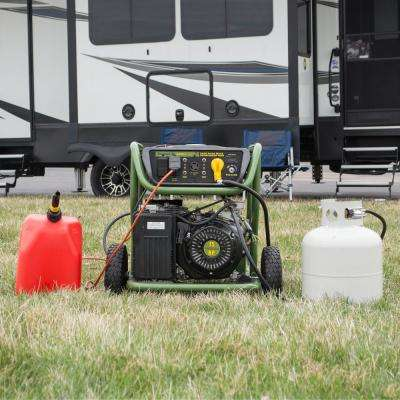 9,000/8,000-Watt Dual Fuel Powered Electric Start Portable Generator