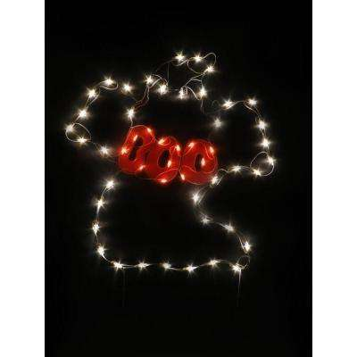 33 in. Ghost Decoration with 50 Miniature Lights