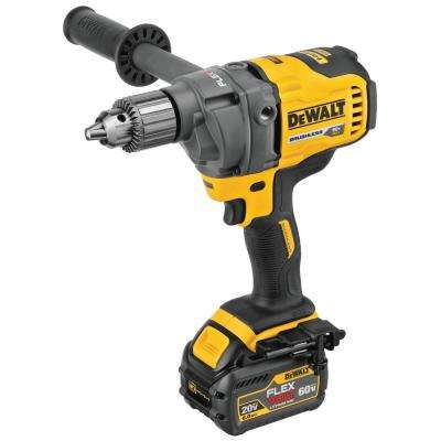 FLEXVOLT 60-Volt MAX Lithium-Ion Brushless Cordless 1/2 in. Mixer/Drill with E-Clutch with Free FLEXVOLT Li-Ion Battery