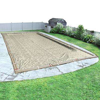 Rectangular Desert Camo Solid Above Ground Winter Pool Cover