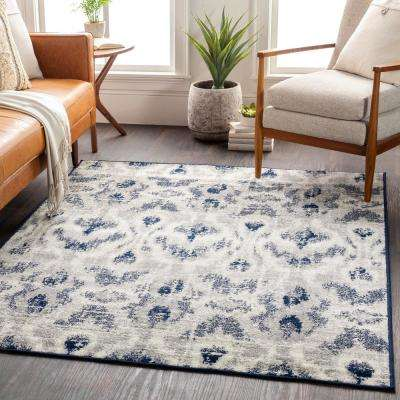 Morana Navy 5 ft. 3 in. x 7 ft. 3 in. Ikat Area Rug