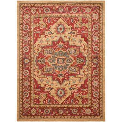 Mahal Red/Natural 10 ft. x 14 ft. Area Rug