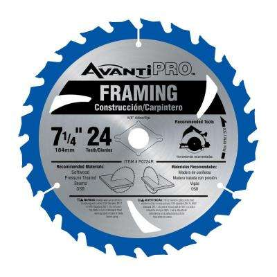 7-1/4 in. x 24-Tooth per in. Carbide Framing Saw Blade