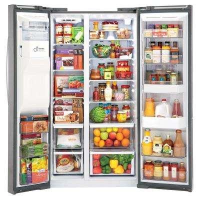 26.1 cu. ft. Side-by-Side Refrigerator with Door-in-Door in Stainless Steel