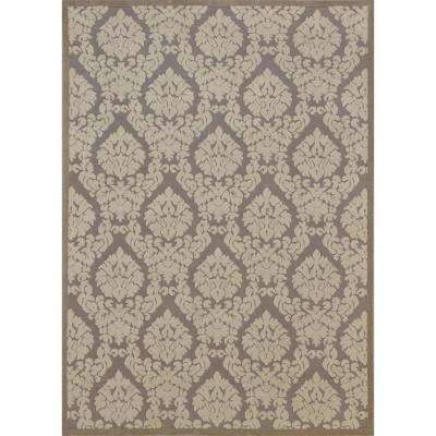 Ultima Silver/Ivory 5 ft. 3 in. x 7 ft. 3 in. Area Rug