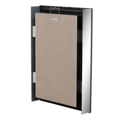 23-1/2 in. W x 33-1/2 in. H Fog Free Framed Recessed or Surface-Mount Mirror on Mirror Bath Medicine Cabinet in Black