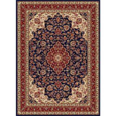 Sensation Navy Blue 8 ft. 9 in. x 12 ft. 3 in. Traditional Area Rug