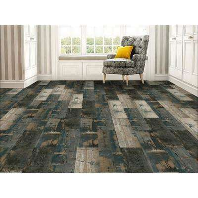 COLORS Floor and Wall DIY Swing Wood Aged 6 in. x 36 in. Multi-Tonal Glue Down Luxury Vinyl Plank (30 sq. ft. / case)