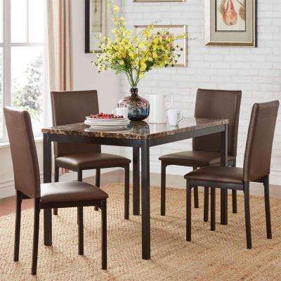 Bedford 5-Piece Brown Dining Set