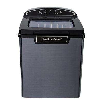 27 lb. Portable Ice Maker in Black