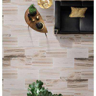 Palisandro 12 in. x 24 in. Polished Marble Floor and Wall Tile (10 sq. ft. / case)