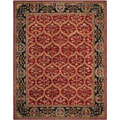 Anatolia Red/Navy 6 ft. x 9 ft. Area Rug