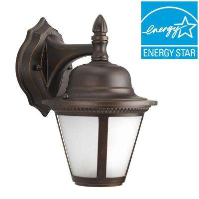 Westport Collection 1-Light Antique Bronze LED Wall Lantern