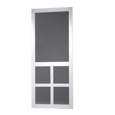 Lafayette Vinyl White Wide Stile Screen Door