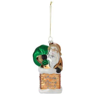 3.5 in. Collectible Santa Christmas Ornament