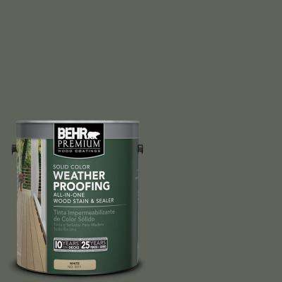 1 gal. #SC-131 Pewter Solid Color Weatherproofing All-In-One Wood Stain and Sealer