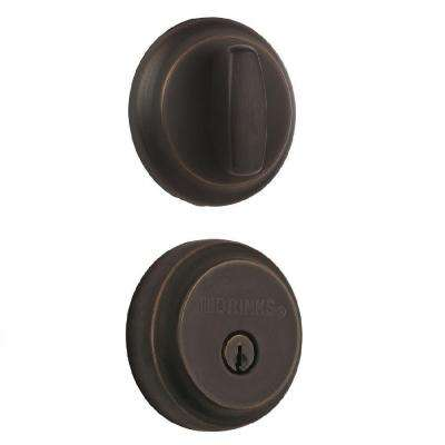 Almarrion Single Cylinder Tuscan Bronze Push Pull Rotate Deadbolt