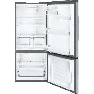 30 in. W 20.9 cu. ft. Bottom Freezer Refrigerator in Stainless Steel