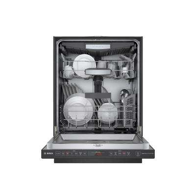 800 Series Top Control Tall Tub Pocket Handle Dishwasher in Black Stainless with Stainless Steel Tub, CrystalDry, 42dBA