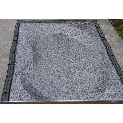 Rectangular Black In Ground Enviro Winter Pool Cover