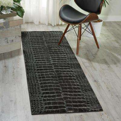 Maxell Charcoal 2 ft. x 8 ft. Runner Rug