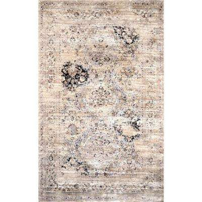 Panel Ivory 9 ft. 6 in. x 12 ft. 10 in. Area Rug