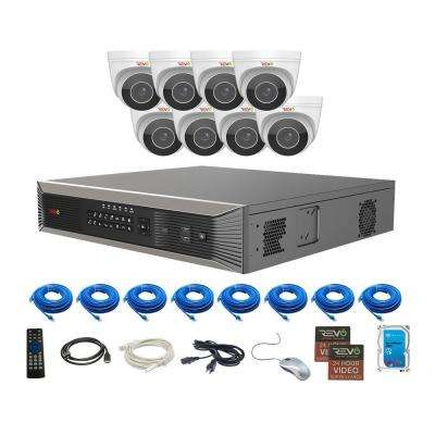 Ultra HD Plus Commercial Grade 16-Channel 4TB NVR Surveillance System with 8 Audio Capable Motorized 4-MP Cameras