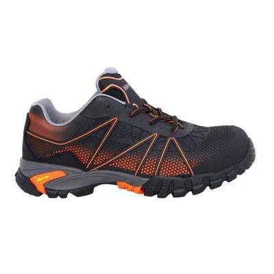 Terreng Low Men's Black/Orange Nylon Mesh Composite Toe Puncture Resistant Work Shoe