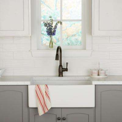 Restore Bright White 4 in. x 16 in. Ceramic Wavy Wall Tile (13.20 sq. ft. / case)