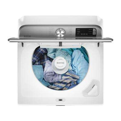 4.7 cu. ft. Smart Capable White Top Load Washing Machine with Extra Power Button and Deep Fill Option