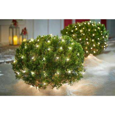 48 in. x 72 in. 150-Light Clear Net Christmas Lights