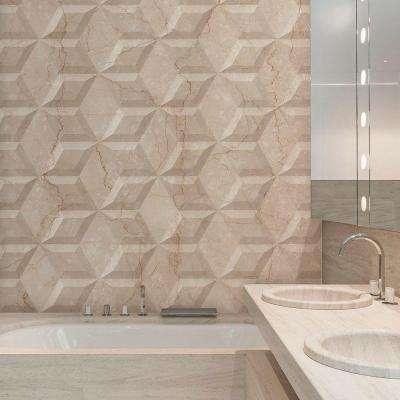 Aurea Flat Beige 6-3/4 in. x 11-3/4 in. Ceramic Wall Tile (6.55 sq. ft. / case)