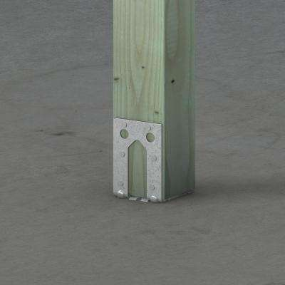 PB ZMAX Galvanized Non-Standoff Post Base for 4x4 Nominal Lumber