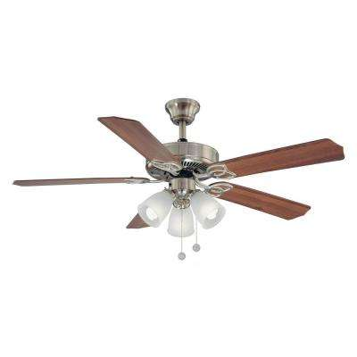 Brookhurst 52 in. Indoor Brushed Nickel Ceiling Fan