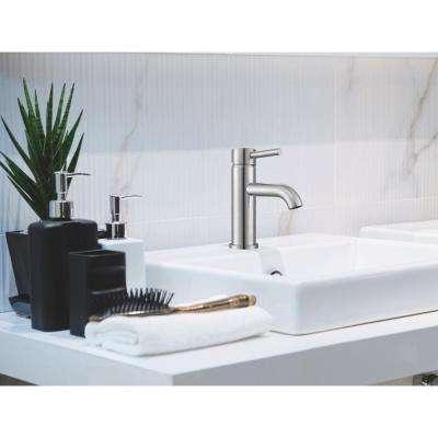 Valencia Single Hole Single-Handle Bathroom Faucet in Brushed Nickel