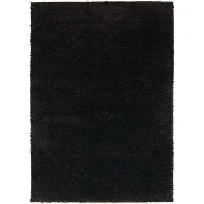 Posh Shag Black 7 ft. 10 in. x 10 ft. Area Rug