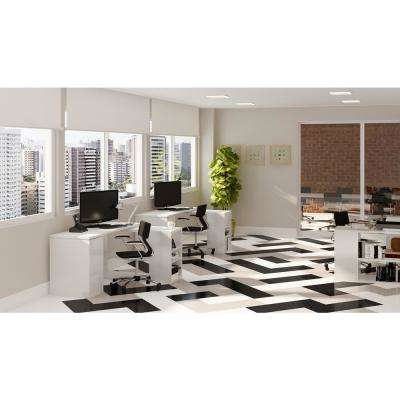 Imperial Texture VCT 12 in. x 12 in. Cool White Standard Excelon Commercial Vinyl Tile (45 sq. ft. / carton)