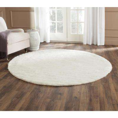 3D Shag Pearl 6 ft. x 6 ft. Round Area Rug