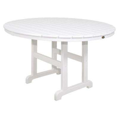 Monterey Bay 48 in. Classic White Round Patio Dining Table