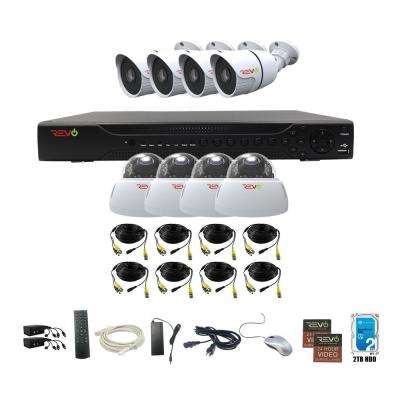 Aero HD 1080p 16-Channel Video Security System with 8 Indoor/Outdoor Cameras