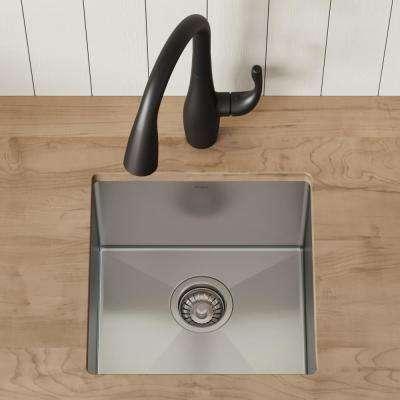 Standart PRO Undermount Stainless Steel 17 in. Single Bowl Bar Sink
