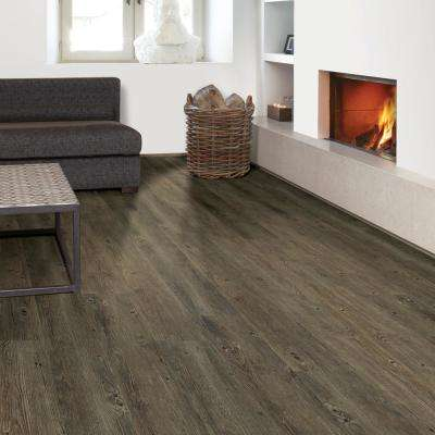 Embossed Hickory Lava 7 in. Wide x 48 in. Length Click Lock Luxury Vinyl Plank (23.36 sq. ft. / case)