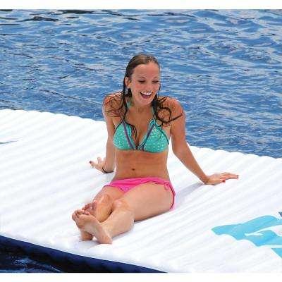Gang Plank Blue Inflatable Island Water Floating Pool Mat Platform
