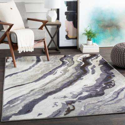 Kasimir Dark Green 2 ft. 7 in. x 7 ft. 3 in. Abstract Runner Rug
