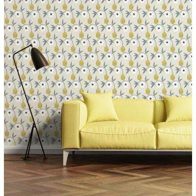 Nomad Collection Kimono Flower in Sand Removable and Repositionable Wallpaper