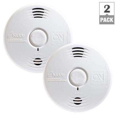Worry-Free 10 Year Battery Combination Smoke and CO Alarm with Voice (2-Pack per Case)