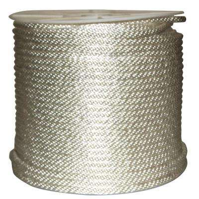 3/8 in. x 500 ft. Solid Braided Nylon Rope White